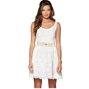 Lilly Pulitzer Calhoun Flower Eyelet White Dress